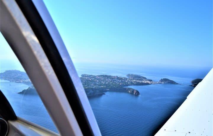 vista isole del golfo da sierra